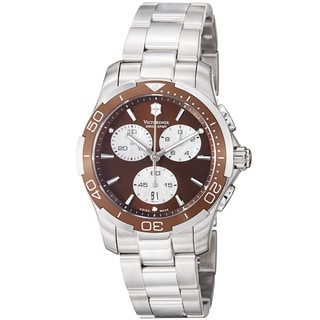 Swiss Army Women's 241502 'Alliance Sport' Brown Dial Stainless Steel Watch