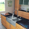 Vigo All-in-One Stainless Steel 36-inch Farmhouse Double Bowl Kitchen Sink and Faucet Set