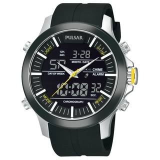 Pulsar Men's Chronograph Black Analog/Digital Watch - PW6001
