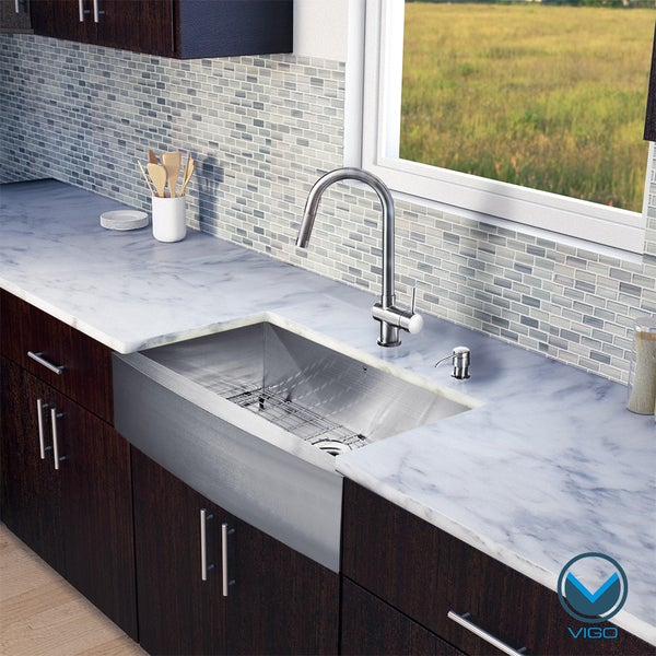 Stainless Steel Farm Sink 36 : ... Stainless Steel Farmhouse Kitchen Sink and Laurelton Stainless Steel