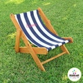 KidKraft Outdoor Navy Stripe Sling Chair