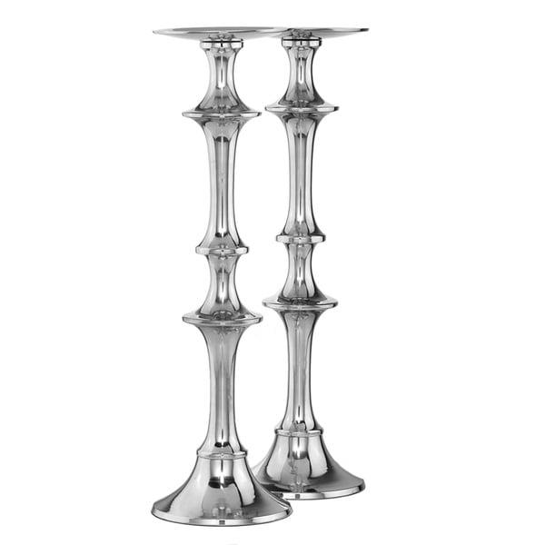 Aluminum Pillar Candle Holder (Set of 2)