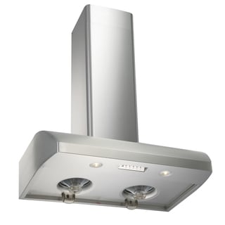 "KOBE Premium CH-122 SQ Series, 36"" Wall Mount Range Hood, 800 CFM, Stainless Steel, Oil Container, QuietMode"