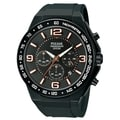 Pulsar Men's Chronograph Black Dial White/Orange Accent Watch - PT3403