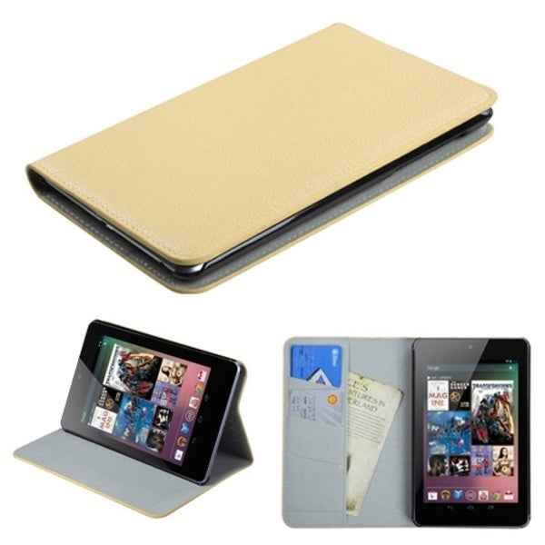 INSTEN White Premium Wallet for Google Nexus 7