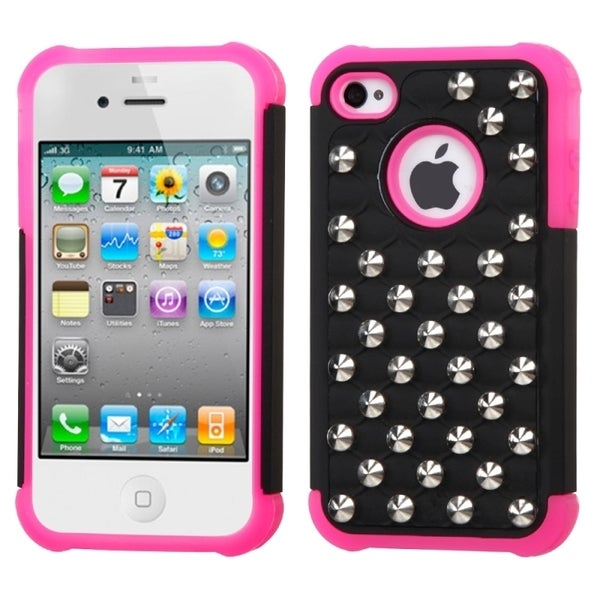 INSTEN Lattice Dazzling TotalDefense Phone Case Cover for Apple iPhone 4S/ 4