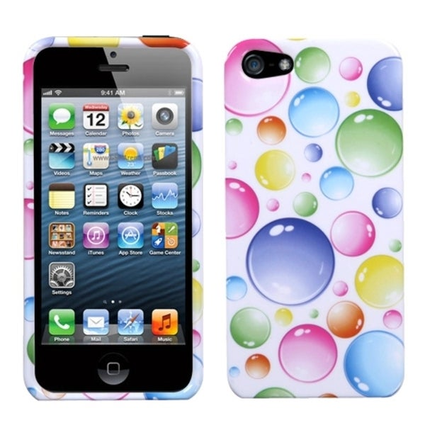 INSTEN Rainbow Bigger Bubbles Phone Case Cover for Apple iPhone 5