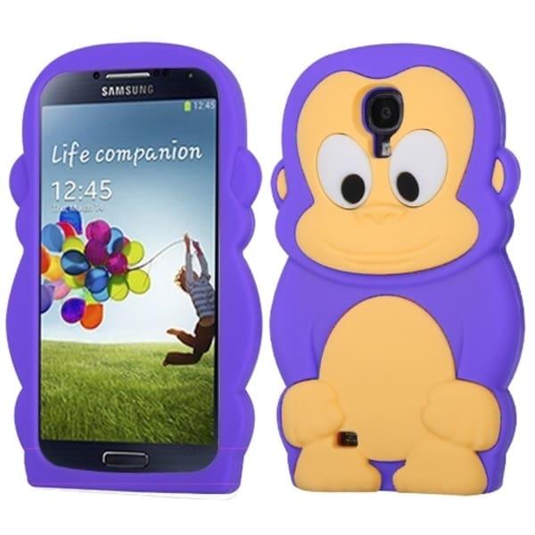 INSTEN Purple Monkey Skin Phone Case Cover for Samsung Galaxy S 4 I337/ L720/ M919