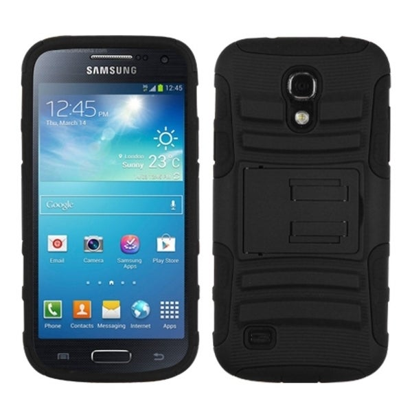 INSTEN Black Advanced Armor Stand Phone Case Cover for Samsung Galaxy S4 mini