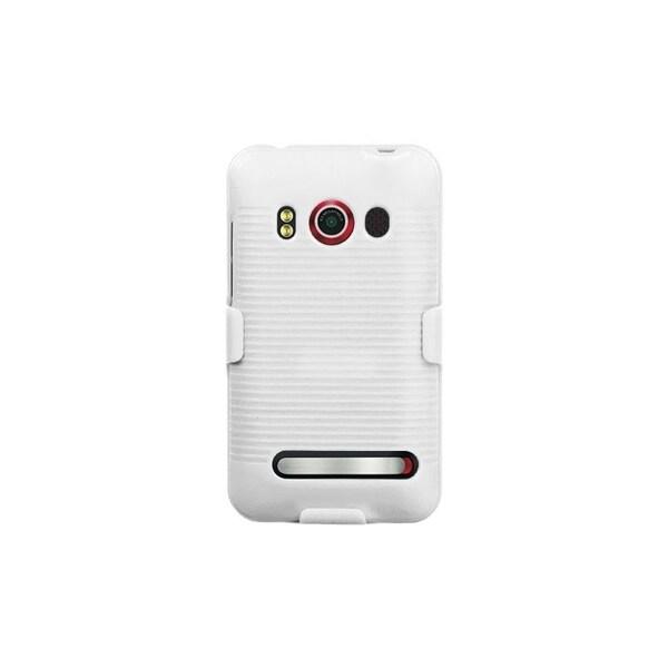 INSTEN Solid Ivory White Hybrid Holster for HTC EVO 4G