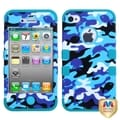 BasAcc Camouflage/ Teal TUFF Hybrid Case for Apple iPhone 4/ 4S