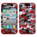 BasAcc Red Desert Camo/ Red TUFF Hybrid Case for Apple iPhone 4/ 4S