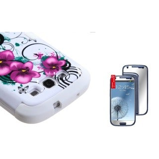 INSTEN TUFF Phone Case Cover/ Mirror Screen Protector for Samsung Galaxy S III