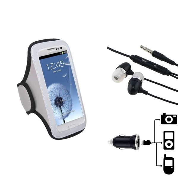 INSTEN Universal Armband/ Headset/ Car Charger Adapter for Cell Phone