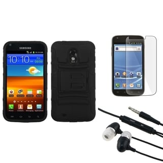 INSTEN Armor Phone Case Cover/ Headset/ LCD Protector for Samsung Galaxy S II 4G