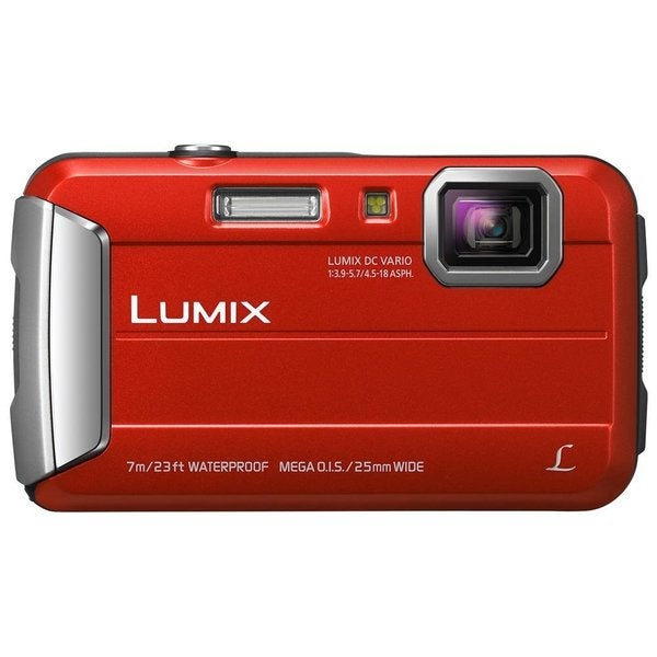 Panasonic Lumix DMC-TS25 Waterproof 16.1MP Red Digital Camera