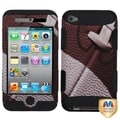 BasAcc Football/Black TUFF Case for Apple iPod Touch 4
