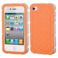 BasAcc Orange Biscuit Case with Baby Blue Frame for Apple iPhone 4/ 4S