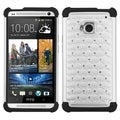BasAcc White/ Black Lattice TotalDefense Case for HTC One/ M7