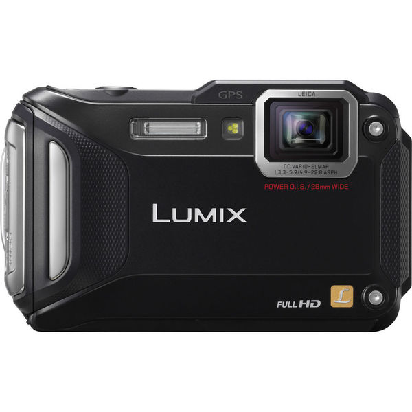 Panasonic Lumix DMCTS5 Waterproof 16.1MP WiFi GPS Black Digital Camera
