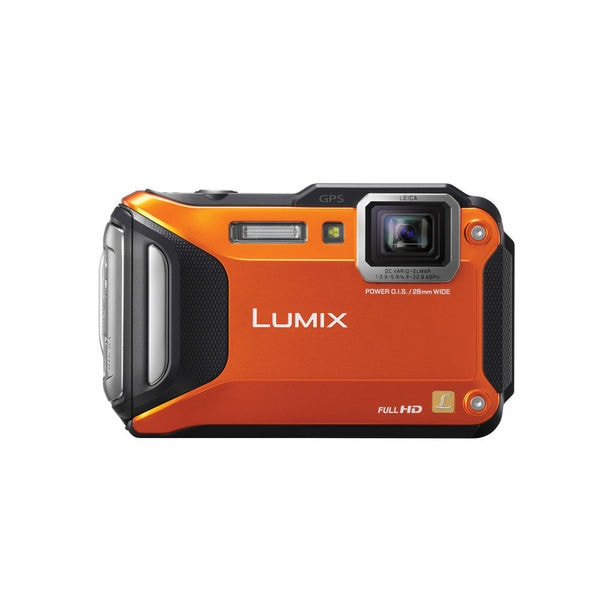 Panasonic Lumix DMC-TS5 Waterproof WiFi GPS Orange Digital Camera