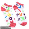 All Mixed Up Women's Live Laugh Love Ankle Socks (Pack of 6)