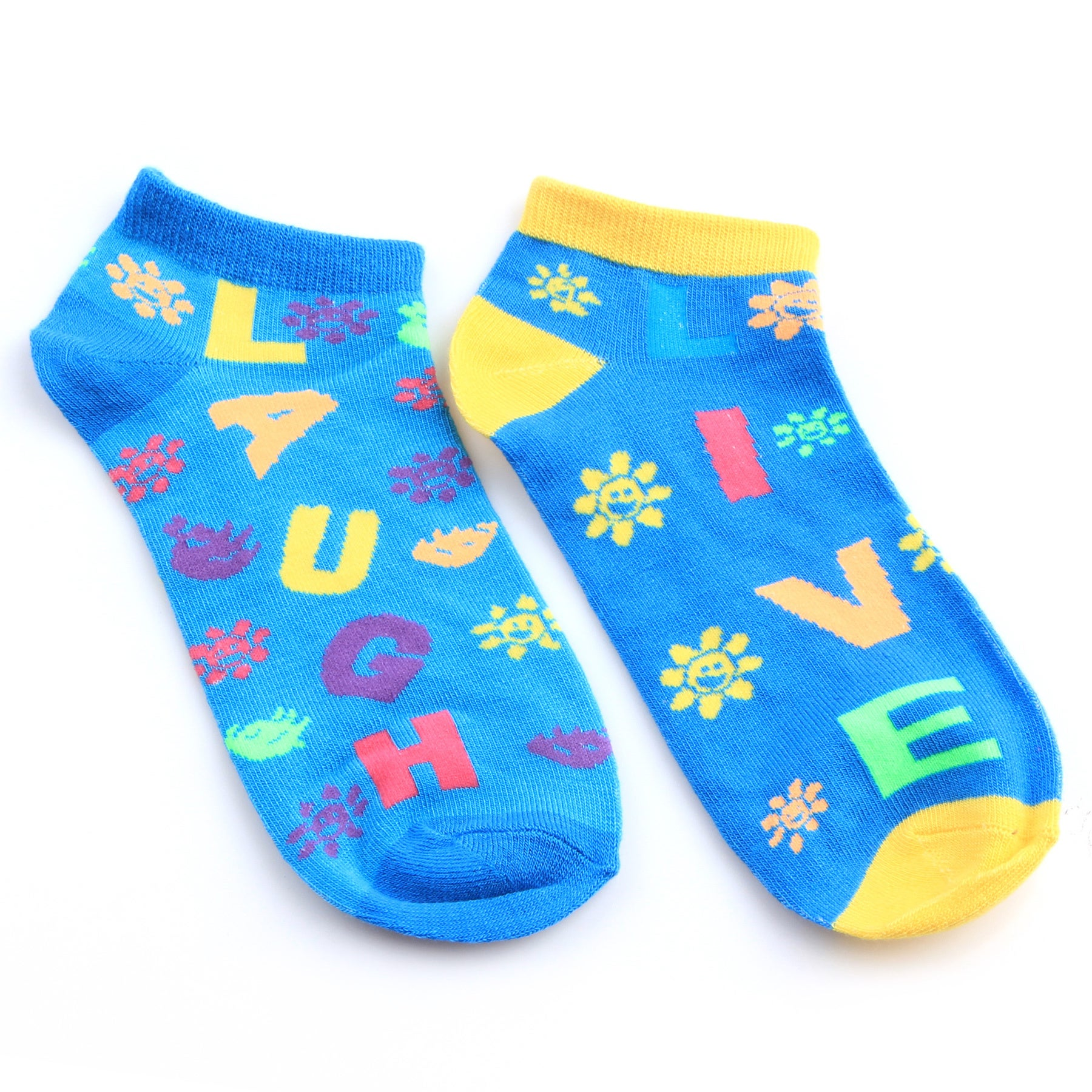 "All Mixed Up Ladies' ""Live Love Laugh"" 6-Pair Pack Of Anklet Socks at Sears.com"