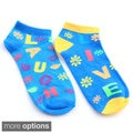 "All Mixed Up Ladies' ""Live Love Laugh"" 6-Pair Pack Of Anklet Socks"