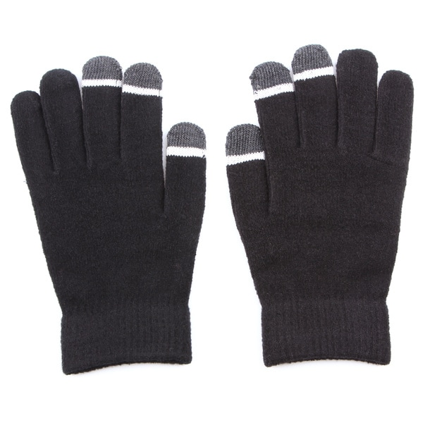 Grippem Black Micro-velvet Touch Screen Gloves