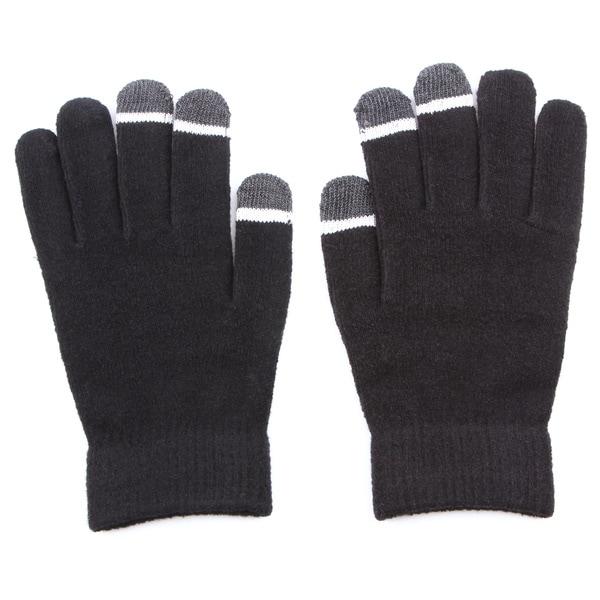Grippem Black Micro-velvet Touch Screen Gloves