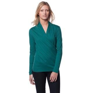 A to Z Women's Long Sleeve Wrap Top