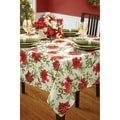 Merry Christmas Pattern Textured Polyester Tablecloth