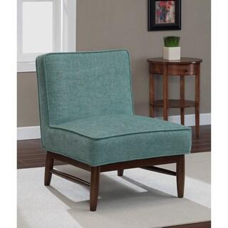 Ella Walnut Aqua Slipper Chair