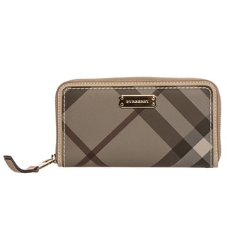 Burberry Trench Smoked Check Zip-around Wallet