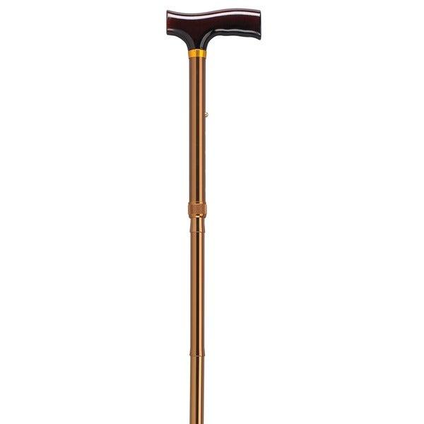 Lightweight Adjustable Bronze T-Handle Folding Cane