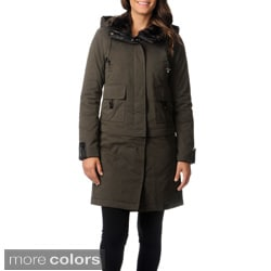Bagatelle Heritage Women's Hooded Faux-fur Lined Parka