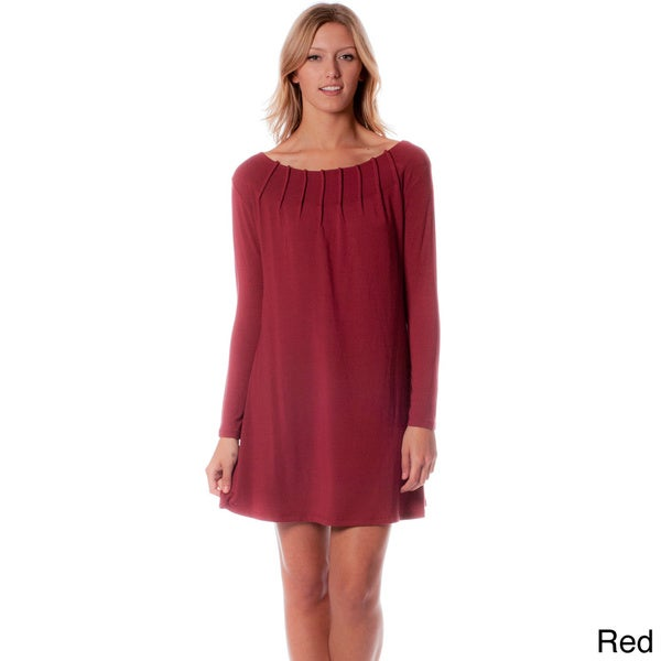 AtoZ Boat Neck Shift Dress