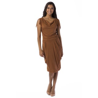 A to Z Women's Mocha Draped Dress