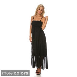 White Mark Women's 'Miconos' Sleeveless Chiffon Maxi Dress