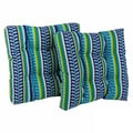 Blazing Needles 19-inch Spun Poly Outdoor Chair/ Rocker Cushions (Set of 2)