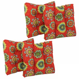 Blazing Needles 19-inch Spun Poly Outdoor Chair/ Rocker Cushions (Set of 4)