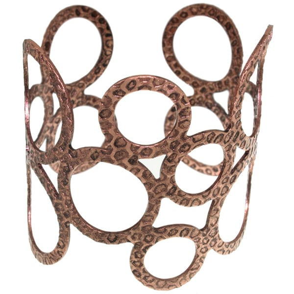 Carolina Glamour Collection Coppertone Open Circle Cuff Bracelet