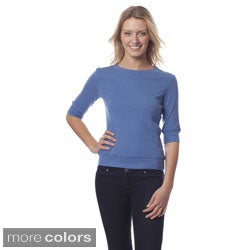 AtoZ 3/4-sleeve Cotton Top