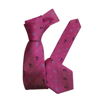 Dmitry Boys Pink Italian Anchor-Patterned Tie