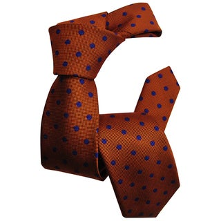 Dmitry Boys Orange Italian Silk Patterned Tie
