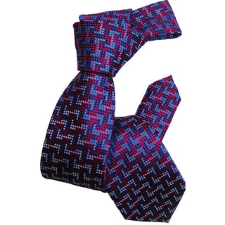 Dmitry Boy's Blue Italian Silk Patterned Tie