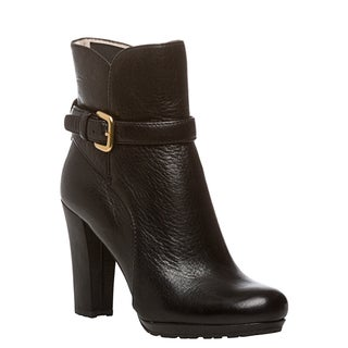 Prada Leather Buckle Booties