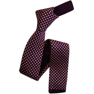 Dmitry Men's Purple Italian Silk Patterned Tie