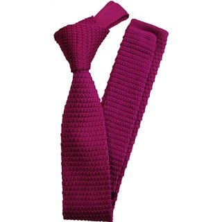 Dmitry Men's Pink Italian Silk Knitted Tie