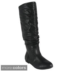 Bonnibel Women's 'Danniz-1' Ruched Knee-high Boots